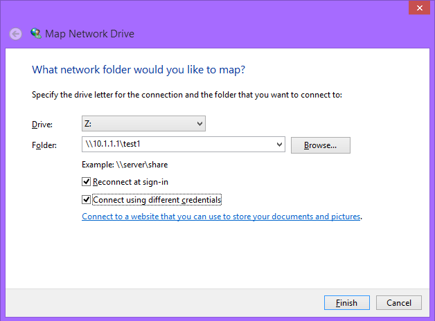 Mapping Samba shares in Windows (and how to assign drives through a